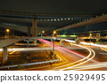 junction, multi-level crossing, night scape 25929495