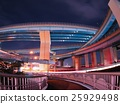junction, multi-level crossing, night scape 25929498