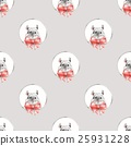Seamless pattern with cute mouse 1 25931228
