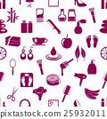 beauty theme big set of various icons pattern  25932011