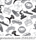 hi-tech technology toys simple icons pattern 25932017