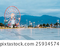 Batumi Georgia. Ferris Wheel Exactly Behind 25934574