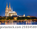 Night View Of Cologne Cathedral, Germany. Europe 25934589
