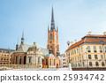 Stockholm Sweden. Building Of Riddarholm Kyrka 25934742