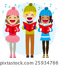 Kids Singing Christmas Carols 25934766