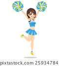 Happy Cheerleader Girl 25934784