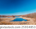 Lake In Spring Season In Belarus. Sunny Spring Day 25934853