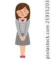 미소의 여성 직원 25935203