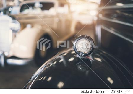 Close up of headlight Retro classic car 25937315