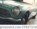 Close up of headlight Retro classic car 25937316