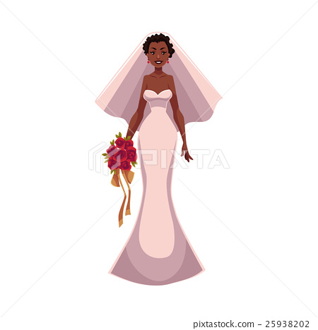 African American bride, fiancee, just married 25938202