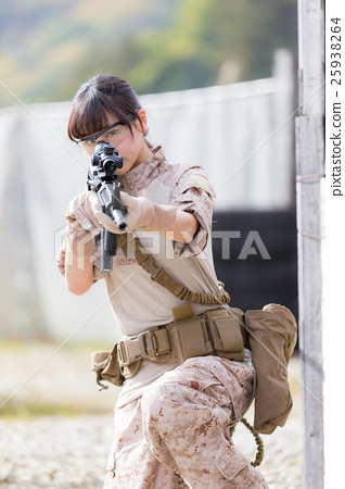 Survival game Military female image 25938264