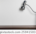 White Cement wall with Metal light office lamp. 25941503