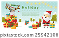 Merry Christmas background with Santa Claus  25942106