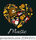 music, heart, vector 25943551