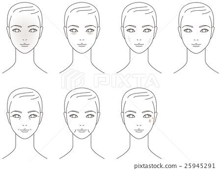 面部皮膚的老年婦女 25945291