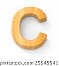 wood color letter C 25945541