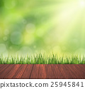 green turf with wooden grain 25945841