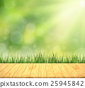 green turf with wooden grain 25945842