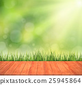 green turf with wooden grain 25945864