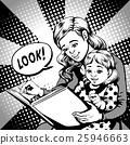 comic mother kid look 25946663