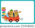 드라이브를하는 멧돼지 가족 (엽서 템플릿) 25948681