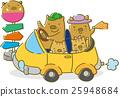 野豬家庭開車(黃色) 25948684