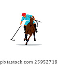 Polo horse and player. Vector Illustration. 25952719