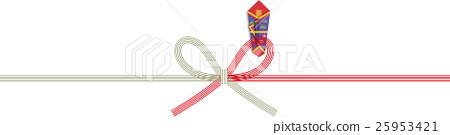 Congratulatory gift paper bow 25953421