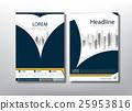 Flyer design template vector, Book cover templates 25953816