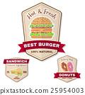 Vintage fast food badge, banner or logo emblem. 25954003