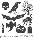 halloween, vector, icon 25954022