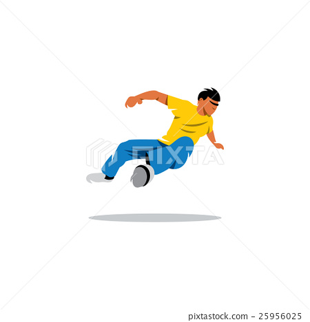 Parkour athlete jumping. Vector Illustration. 25956025
