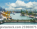 Singapore cargo terminal,one of the busiest port 25960875
