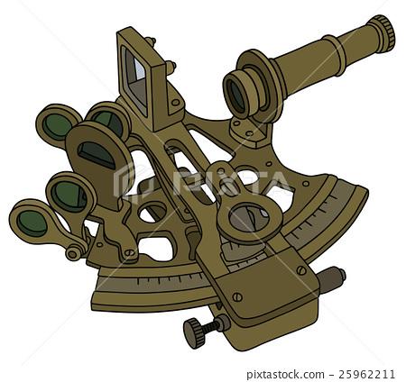 Vintage brass sextant 25962211