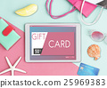 Gift Card Voucher Coupon Graphic Concept 25969383