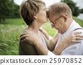 Elderly Senior Couple Romance Love Concept 25970852