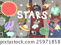 Outer Space Icons Drawing Graphics Concept 25971858