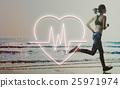Cardiac Cardiovascular Disease Heart Graphic Concept 25971974