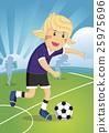 Illustration Cartoon character Girl Soccer Player 25975696