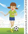 Soccer female player sport vector illustration 25975699