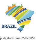 Colorful abstract Brazil map vector. 25976051