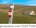 Trail Sign on a Wooden Pole - Italian Alps 25977560