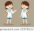 Female doctor on presentation 25978222