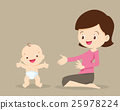 baby, mother, standing 25978224