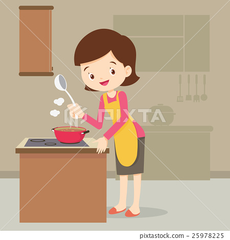 woman cooking in the kitchen 25978225