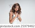 The portrait of violent and militant woman 25979462