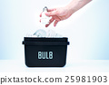 Container for recycling - bulb. 25981903