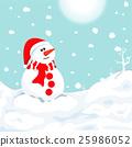 snowman in winter. Christmas symbol. 25986052