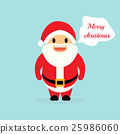 "Santa saying ""Merry Christma 25986060"